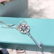 TIFFANY & Co. 大號鑰匙鑲鉆毛衣鏈項鏈