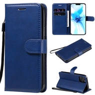 Casing iPhone 12 / 12 Pro / 12 Mini / 12 Pro Max solid color leather cover phone case