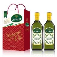 【Olitalia奧利塔】純橄欖油禮盒組(1000ml x 2瓶)