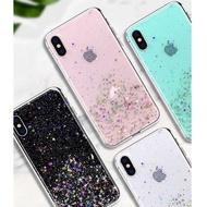 Bling glitter Phone Cases For oppo R9 R8 R11 R15 R17 PLUS RENO 6.4 RENOZ 6.1 starry sky silver foil Cover For OPPO RENO X10  6.6
