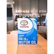 [ 樂油油 ]日本原裝進口TOYOTA 0W16 豐田原廠  最新油電車機油 PRIUS 4 PRIUSC用