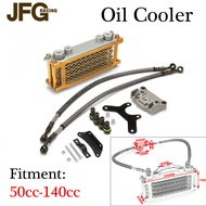 JFG Racing Motorcycle GOLD Oil Cooling Cooler Radiator For 50 -250 cc Accessories Dirt Pit Bike ATV