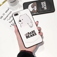 We Bare Bears Leather iPhone X XR XS Max Casing 8 / 7 / 6S / 6 Plus Phone Case Back Cover Protector