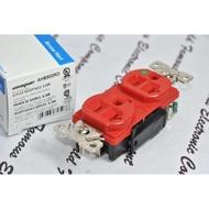美國 COOPER AH8300RD 125V 20A NEMA 5-20 高級型 紅色 醫療級插座 DUPLEX型