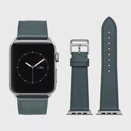 Midnight Green Leather loop Band for Apple watch Series 4 5 44mm 40mm Single Tour Watchband for iWatch 42mm 38mm Strap Bracelet