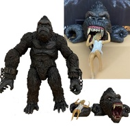 King Kong Action Figure Black And White Version Figurine Kingkong Figure Collection Action Figure Model Toy Gift 18cm
