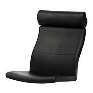 IKEA POÄNG 扶手椅椅墊, smidig 黑色