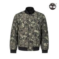 【Timberland】男款迷彩綠兩面穿飛行夾克(A1YD8W63)