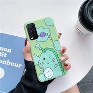 Casing Ponsel Silikon Lembut, Sarung HP 3D Dinosaurus Unicorn untuk VIVO Y50 Y30 Y30i VIVO Y20 Y20i Y20s Y12s Y11s VIVO Y17 Y12 Y15 Y11 Y12i