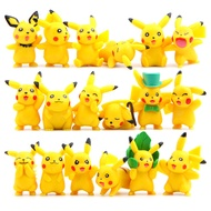 POKEMON Action Anime Figure Pikachu-Cosplay Wearing Hat Pikachu-18 Kinds Of Complete Pikachu Model Figure Collectible Gift