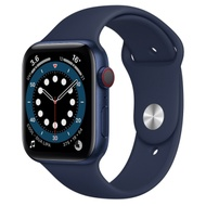 Apple Watch Series 6 (GPS+行動網路) 44mm 藍色鋁金屬錶殼+藍色錶帶(M09A3TA/A)