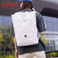 Adidas Originals geometric 3D roll top backpack รุ่นใหม่ชนช้อป!!กระเป๋าเป้สะพายหลัง แท้100%