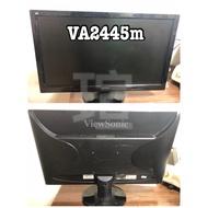 瑄* ViewSonic 24吋 螢幕 中古 二手 良品 電腦螢幕 LED 寬螢幕 VA 2445m 液晶顯示器