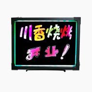 櫃檯LED電子螢光板30 40 手寫板 廣告板螢光屏發光黑板掛式小黑板WD  電購3C