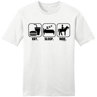 Design Template Crew Eatleep Horseback Men T shirt unisex tee cotton