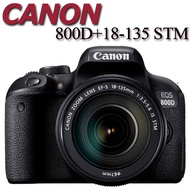 Canon EOS 800D + 18-135mm IS STM 佳能公司貨 800D KIT