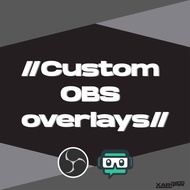 OBS/StreamLabs OBS custom overlay for Twitch/YouTube live/Facebook Gaming