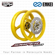 ENKEI MAGS/MAGWHEEL FOR YAMAHA SNIPER/EXCITER 150  F:1.60/17 R:2.15/17 (9851-102-Yellow)