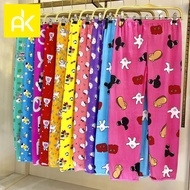 AK Adult Pajama Spandex Cotton Cartoons For Women Sleepwear Random Design