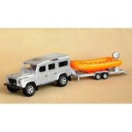╭。BoBo媽咪。╮盒裝 兒特愛模型 1:32 路虎拖車(露營車、動物拖車、衝浪板、獨木舟) 聲光回力車