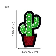 ZHANTONG 3pcs Cactus Embroidery Fabric Applique Iron/Sew on Patches For Clothing New 2017