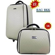 BAG BKK Luggage Wheal กระเป๋าเดินทางล้อลาก ระบบรหัสล๊อค เซ็ทคู่ ขนาด 22 นิ้ว/14 นิ้ว Code F7807-22Chaa