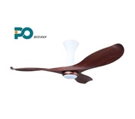 PO ECO 52  ALBA Series Ceiling Fans With LED Light (CHERRY WOOD)
