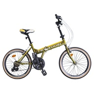 BIKEONE L22 PLUS 22吋24速451輪組SHIMANO變速前後碟煞折疊車小摺腳踏車