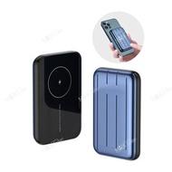 Mobilesteri - 【iPhone 12 PRO MAX / iPhone 12 PRO/12】3合1Magsafe磁吸無線5000mAh流動充電器(藍色)