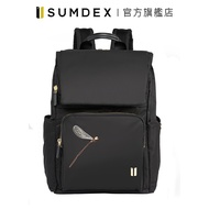 Sumdex|掀蓋式安全後背包(蜻蜓版) NON-704BK-DT 黑色 官方旗艦店