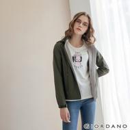 GIORDANO 女裝Softshell三合一高機能炫彩刺繡連帽外套-60深淵綠