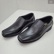 รองเท้าหนังคัชชู ผู้ชาย สีดำ AGFASA รุ่น118 งานดี หนังเกรด PREMIUM การันตี ทรงสวยใส่ทน size 38-46