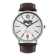 Superdry Oxford SYG194TS Analog Quartz Brown Leather Mens Watch