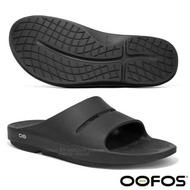 【美國 OOFOS】新款 超輕人體工學舒壓健康拖鞋(運動按摩型氣墊鞋) / M1100 黑