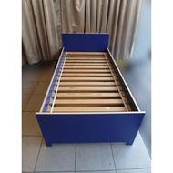 新竹2手家具推薦百豐悅二手傢俱館-二手藍色子母床兒童床雙層床組合式床架床組床底床台床片 後龍二手家具買賣苗栗二手家電買賣