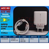 Oppo 65w Super Vooc Wc0506a3hk Travel Charger Type -@ C Original | TRAVEL CHARGER OPPO 65W SUPER VOOC WC0506A3HK TYPE-C ORIGINAL