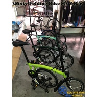 "3Sixty Folding Bike 16"" TRI FOLD M3 S-Bar"