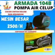 PROMO COD Pompa Air Celup AERATOR GELEMBUNG Kolam Ikan Aquarium Aquascape Akuarium ARMADA SP 104B 22 Watt 2.5 Meter 2500lH
