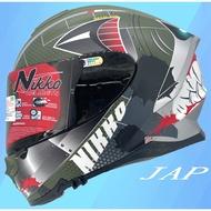 Nikko  N806  N-806 夜光版鯊魚 軍事綠 全罩 內鏡片 安全帽《送折價卷500元》