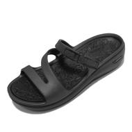 Skechers 涼拖鞋 Arch Fit 女鞋 全黑 足弓鞋墊 醫師推薦 拖鞋【ACS】 111232-BBK