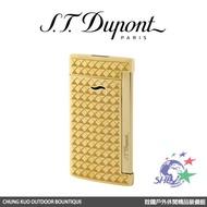 S.T. Dupont 法國都彭頂級打火機 slim 7 輕薄防風噴射打火機 / 金稜格紋 / 27715 【詮國】