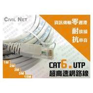 [瀚維-網路線] CAT6 UTP 超高速 24AWG 網路延長線 連接線 2M 另售 大山 大同 CAT5E 網路線 短跳線