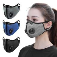 【活力揚邑】透氣網雙氣閥可換活性碳濾芯防塵霾機車運動口罩
