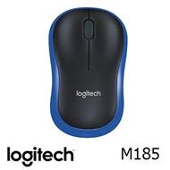 (限定款)羅技 Logitech M185 無線滑鼠 黑藍色 910-002500【燦坤獨家顏色】