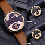 - Men's Diesel Fashion Watches Double Time & Date On / Men's Watches DS 3544 - Leather