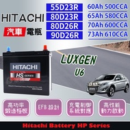 CS車材 - HITACHI 日立電池 LUXGEN U6 13年後 EFB充電制御 代客安裝