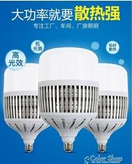 車間照明廠房大功率球泡led燈泡e27螺口節能燈E40超亮100w工礦燈 雙12購物全館85折