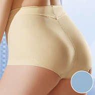 華歌爾 後腰修飾 輕塑型 64-90 冰涼 奇異高腰褲 (海洋藍)