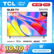 The First Android 11 TV TCL 50 inch QLED 4K Smart TV - Dolby Vision & Atmos - ONKYO Speaker - Android 11.0 - HDR 10+ - HANDS-FREE VOICE CONTROL - MEMC (Model 50Q725)
