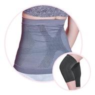 【京美】銀纖維極塑護腰+竹炭銀纖維能量護膝超值組